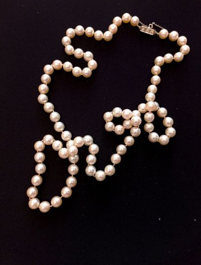 COLLIER de perles de culture, fermoir en...