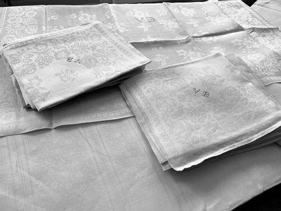 Nappes et serviettes de table, 2nde moitié...