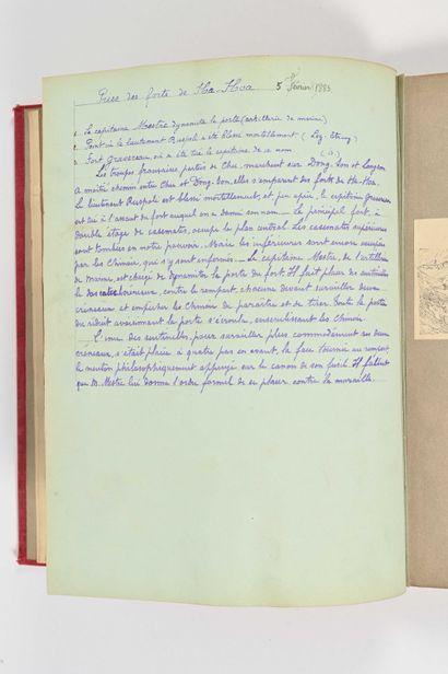 France Carnet de campagne de la conquête du Tonkin et Langson 1885 par L. Bazangeon...