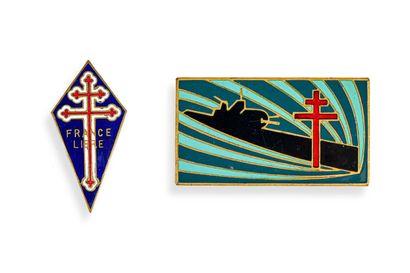 France Insigne sous marin Surcouf de l'Amiral Ortoli numéroté 1  Fabrication Londres,...