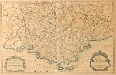 Carte du gouvernement général de Provence