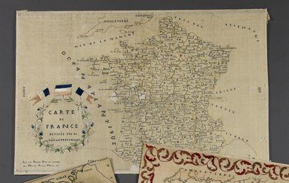 Carte de France divisée en 86 départements,...