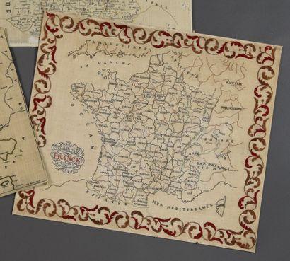 Nouvelle Carte de France divisée en 86 départements,...