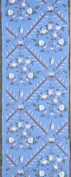 Rouleau de papier peint, fin du XVIIIe siècle,...