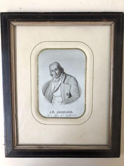 Portrait tissé de J.M. Jacquard Manufacture...