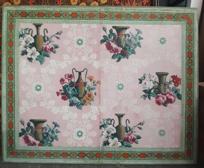Panneau de papier peint, attribué à la manufacture...