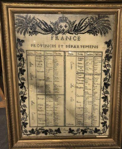Provinces et départements du royaume de France,...