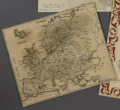 Carte de l'Europe brodée par E.J Mustard,...