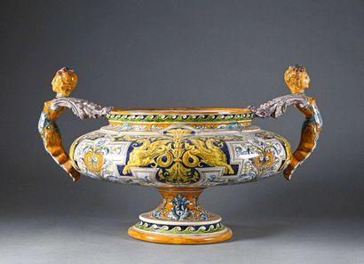 Grande vasque sur piédouche en céramique...