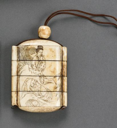 JAPON - Période MEIJI (1868-1912)  Inro en...