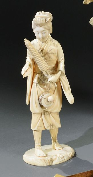 ** JAPON - Période MEIJI (1868-1912)  Okimono...