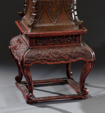 JAPON - Période MEIJI (1868-1912)  Beau socle...