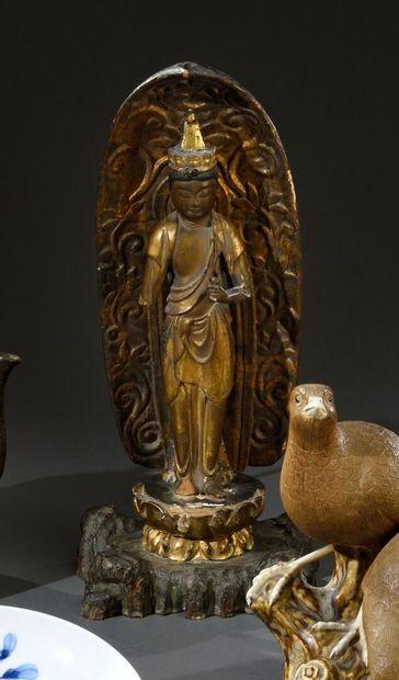 JAPON - Période EDO (1603-1868)  Kwanin debout...
