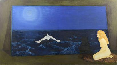 Serge REZVANI (né en 1928)  Lula et l'oiseau...