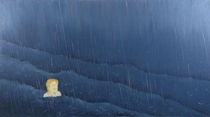Serge REZVANI (né en 1928)  La pluie, 1974...