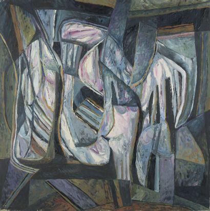 Serge REZVANI (né en 1928)  Repentir XVII...