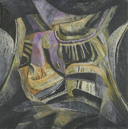 Serge REZVANI (né en 1928)  Repentir XII...
