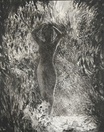 Serge REZVANI (né en 1928)  Venere dans le sous-bois, de la série réserve, 1999...