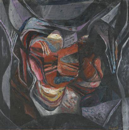 Serge REZVANI (né en 1928)  Repentir XIV...