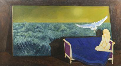 Serge REZVANI (né en 1928)  L'oiseau empenné...