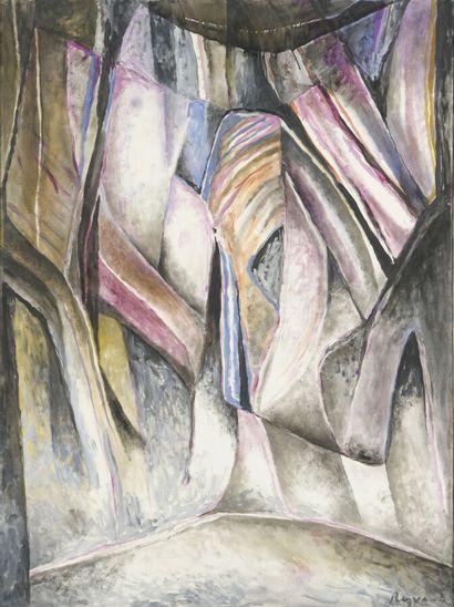 Serge REZVANI (né en 1928)  Phénix XX, 1992...