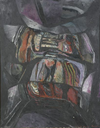 Serge REZVANI (né en 1928)  Repentir VII...