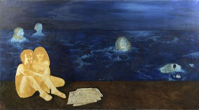 Serge REZVANI (né en 1928)  Dans l'atelier,...