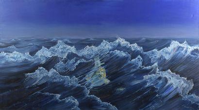 Serge REZVANI (né en 1928)  L'homme vague,...