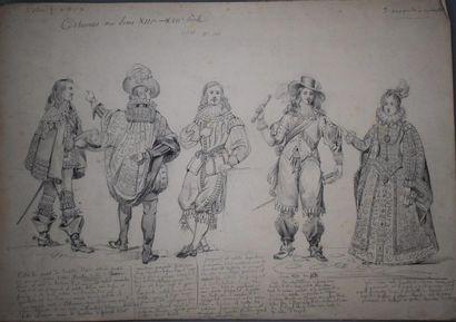 Félix BENOIST (1818-1896)  Ensemble de treize...
