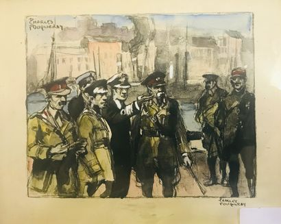 Charles FOUQUERAY  Militaires  Lithographie...