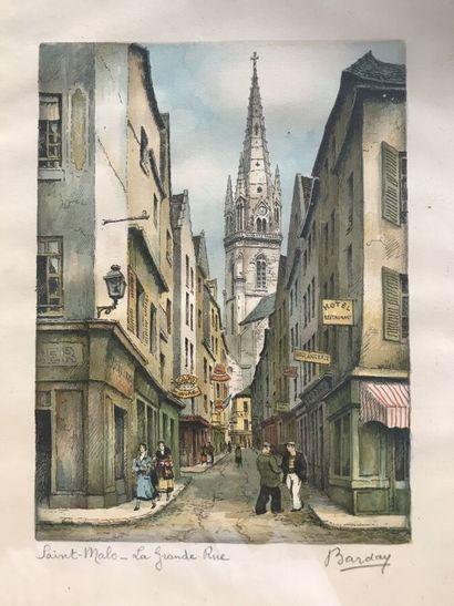 Ecole FRANCAISE du XXe siècle, BARDAY  Vues...
