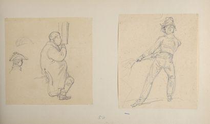 Attribué à Carle VERNET (1758-1836)  Deux...