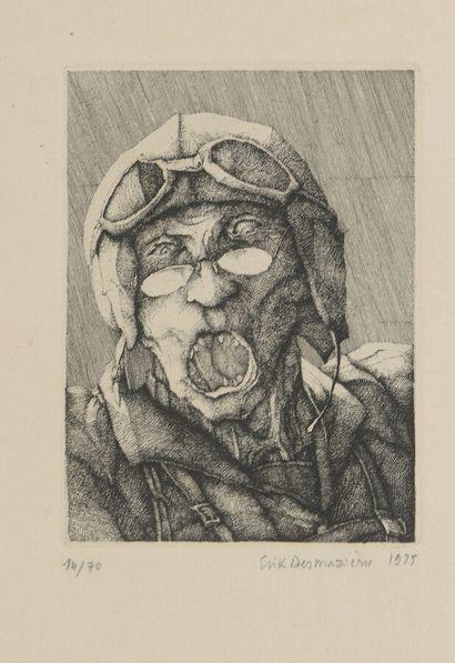 Érick DESMAZIÈRES (né en 1948)  L'aviateur,...