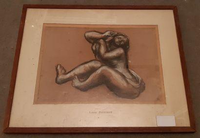 Louis Jules DIDERON (1901-1980)  Femme se...