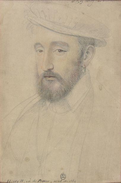 Portrait de Henri II  Reproduction d'un dessin...