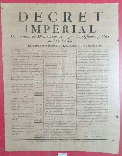 Décret impérial du 12 juillet 1807  Concernant...