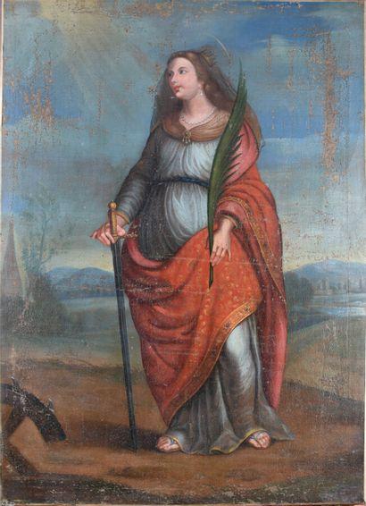 ECOLE FRANCAISE du XVIIIe siècle  sainte...
