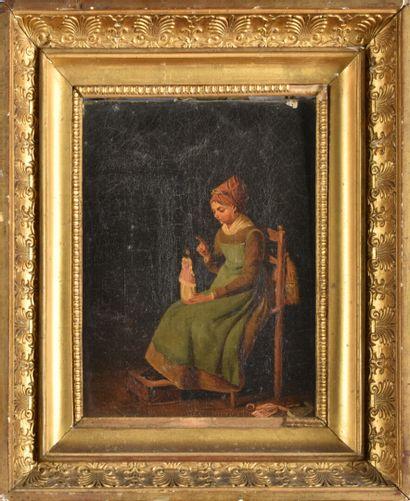 Ecole Française du XIXe siècle  Le mendiant...