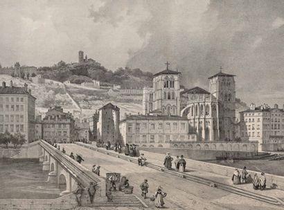 Le Pont Tilsitt à Lyon  Reproduction d'après...