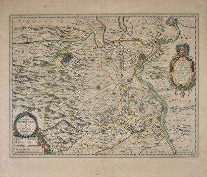 Carte du comtat de Venaissin au XVIIe siècle...