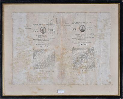 [ARMEE DES GRISONS]. 11 pluviose an IX.  Proclamation...