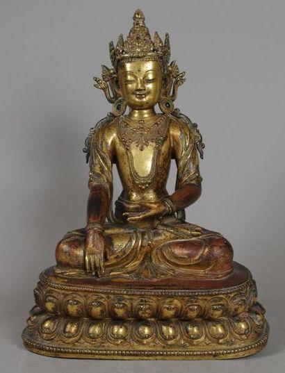 TRAVAIL SINO-TIBETAIN - Epoque Ming, XVe/XVIe siècle