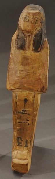 Shaouabti inscrit d'une colonne ventrale....