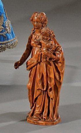 Vierge à l'Enfant bénissant Beau groupe en...