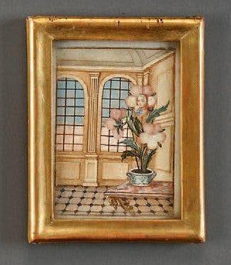 Aquarelle provenant du cabinet de Jean-François...