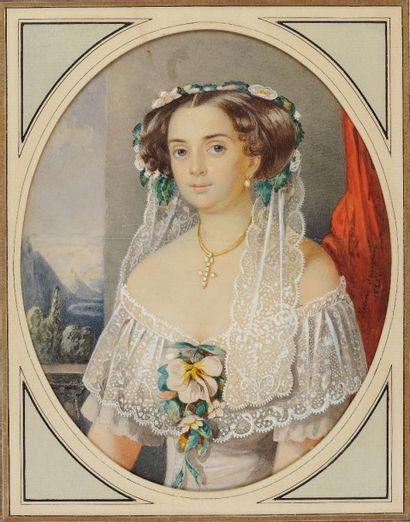 Hélène von FRANCKEN (née KÖBER en 1825)