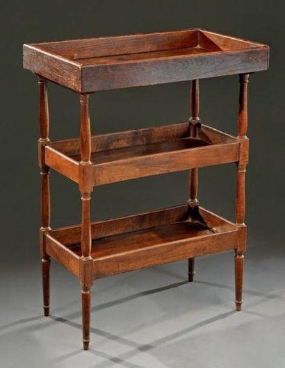 Petite table rectangulaire en bois naturel...