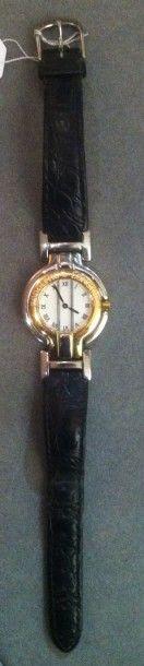 LONGINES Bracelet montre d'homme modèle «Rodolphe» Boîtier en acier et acier doré,...
