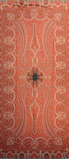 Châle cachemire long, vers 1860-1870, réserve...