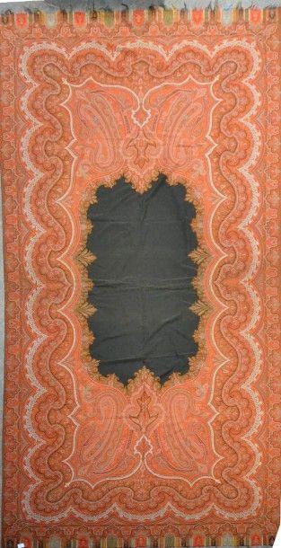 Châle cachemire long, vers 1870, cartouche...